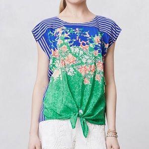 Moulinette Soeurs flora nouveau 100% silk tunic